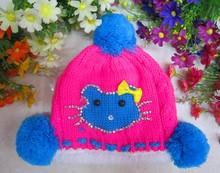 wholesale Cute Animals Pattern acrylic winter baby hat crochet pattern