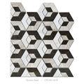 piedra caliza y de madera blanca de mármol marrón chocolate largo de arte del mosaico del azulejo de la pared de home depot