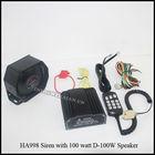 Car Electronic Warning Siren Alarm Police Firemen Ambulance Loudspeaker with MIC HA998