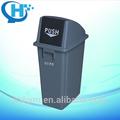 60L tanque de residuos de papel / botes de basura de plástico transparente