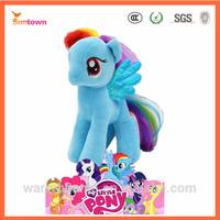 19cm blue stuffed animal horse Rainbow Dash 2014 my little pony plush toy