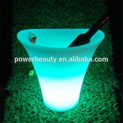 Best selling led illuminated plastic bar waterproof belvedere vodka acrylic ice bucket cooler