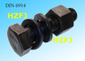 DIN 6914 boulons à tête hexagonale à haut résistance niveau 10.9