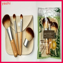 Promotion Gift 4 pcs synthetic hair makeup brushes set with OPP bag