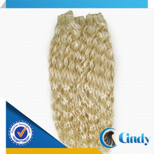 darling 40 inch sew in 100% natural blonde curly human wholesale hair extensions
