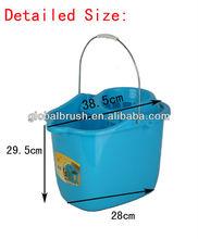 HQ2330R South America market recycled PP mop bucket with wheel cubo de la fregona con la rueda