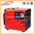 6kw tragbaren kleinen dieselgenerator, stille diesel-generator