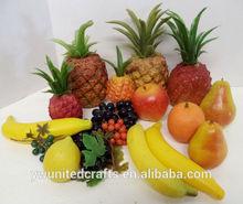 SOFT PLASTIC ARTIFICIAL FAKE FRUIT PINEAPPLE BANANAS PEAR APPLE GRAPES LEMON