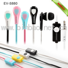 mobile phone earphone colorful faces with portable media player use and wired communication EV-S880