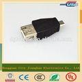 Gold fournisseur de gros micro adaptateur otg, 5 broches, micro usb adaptateur usb fm avec extension et double fonction otg