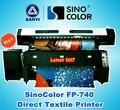 Máquina de impressão têxtil sinocolor fp-740, bandeira de sublimação de impressão