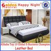 Modern designs bedroom furniture king size Alibaba italian bed G801