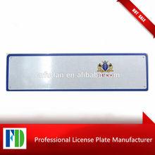 cauteng blank car plate,license plate europe