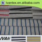 polyester linen rainbow stripe fabric
