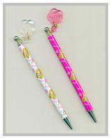 Factory elegant style nice hand feeling flower ball pen
