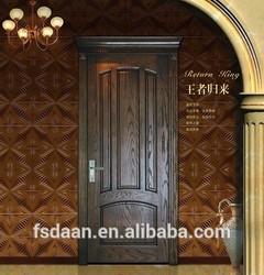 cheap modern style door design black walnut interior wooden door