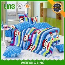 cartoon characters duvet/bedding set luxury/bed sheet brands