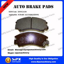 High quality 25191GA130 Car brake pads for SUBARU ALCYONE LEONE