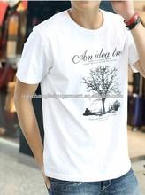 idea tree printed 100% cotton soft short sleeve O neck fashion men t shirt