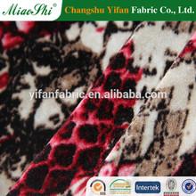 95% Polyester 5%Spandex KS Printed Velvet For Women Dress/velvet material for dresses