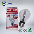 18w 28w 42w 52w 70w clair et givré couverture prix lampe halogène e27 b22 base