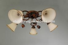 European ceiling lighting classic lighghting flower ceiling lamp glass lampshade