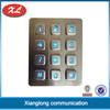 China XL highly vandal proof outdoor stainless steel illuminated IP66 3x4 matrix industrial illuminated keypad