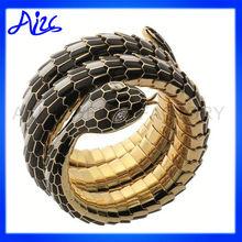 Antique Silver Snake Skin Bracelets