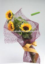 Poly Deco Mesh Floral Wrap