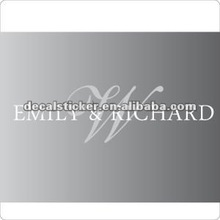 """Emily&Richard"" wedding vinyl decal"