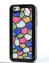 bling bling style crystal beads Case For Iphone 5 5s fashionable hard plastic back Rhinestone Cover
