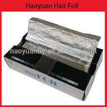 folded edge pre-cut sheet silver hair embossed hair aluminum foil sheet