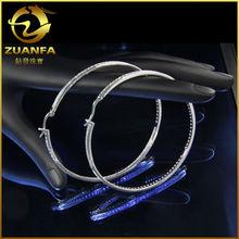 2014 fashion 925 steriling large silver hoop earrings wholesale