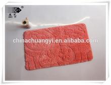 2014 new design cut and loop microfibre bath mat