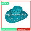 venta caliente de diseño clásico tejidas a mano decoración de vaquero sombrero de paja
