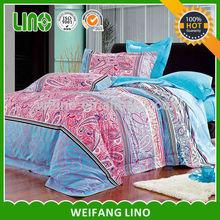 Luxury reactive printing beautiful bed sheet sets/printed floral sheet sets/bed sheet set brand