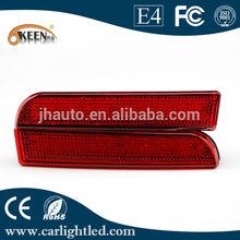 LED Rear Bumper Reflector Light,for Mitsubishi Lancer EX Night Running Light and Brake Light Function