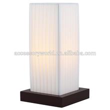 Modern Minimalist Style Designer Linen Shade Wood Desk Table Bedside Lamp Lights