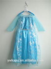 vestito da modo congelati Elsa cosplay vestito