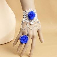 Super blue rose flower bracelet 2014 lucky flower bracelet
