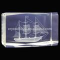 3d cristal grabado láser cristal de regalo