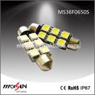 36mm 12V DC 5050 SMD Lamp 6 LED c5w license signal lamp Car door courtesy smd lighting