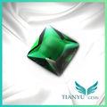 loose esmeralda barato plana de vidro claro quadrados de pedra pedras preciosas