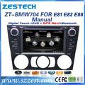 """Zestech oem 7"""" otomatik/manuel dokunmatik ekran araba radyo çalar bmw E81 E82 E88 1 serisi araba dvd gps radyo ses navigasyon"""