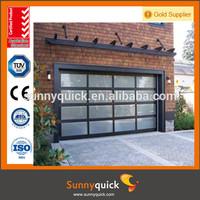 9x8 aluminum transparent insulated double glass garage door price