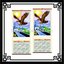 wall calendar 2012,cane wall scroll calendar,Jesus fabric calendar