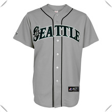 mens grey 100% polyester breathable dri fit baseball jersey athletic game jersey custom wholesale clothing manufacturer in China