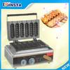 110V 220V hot dog lolly waffle maker/ waffle stick commercial corn dog waffle maker