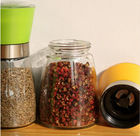 glass spice jar with grinder