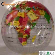 Great printing inflatable world globe, inflatable world globe ball